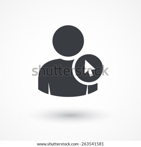 User cursor icon. - stock vector