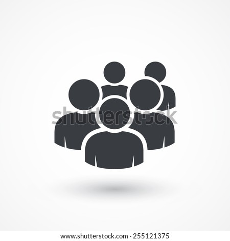User group network. Flat style design icon - stock vector