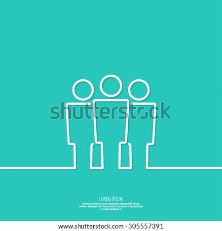User group network. The concept of social networking, teamwork, union, community, fellowship. Outline. minimal. - stock vector