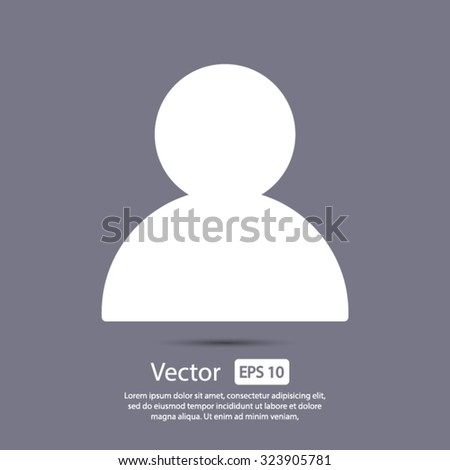 User icon. One of set web icons - stock vector