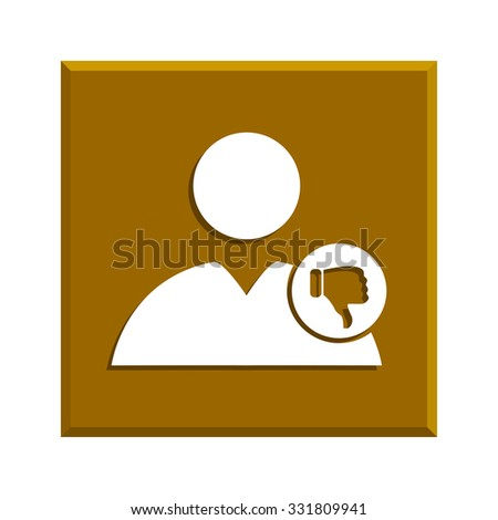 User icon vector dislike. Vector illustration EPS - stock vector