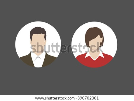 user icons - stock vector