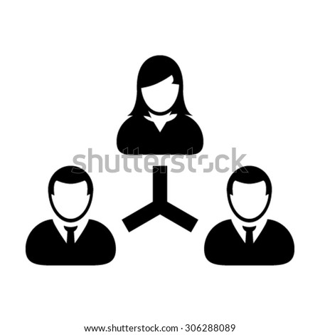 User Icons - Business, Hierarchy, Leadership, Management etc. - stock vector