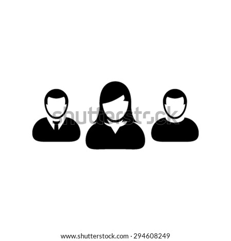 User Icons - Team, Group, Management, Business People etc,  - stock vector
