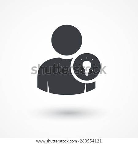 User idea icon. - stock vector