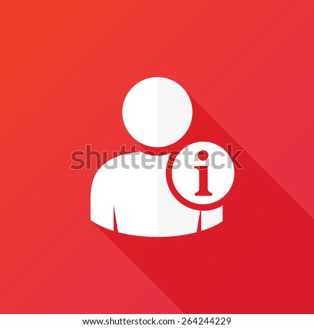 User information icon - stock vector