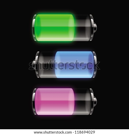 User Interface Battery Charge - stock vector
