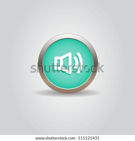 User interface button - stock vector