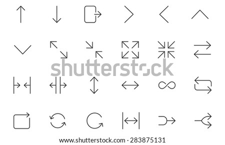 User Interface Icons 24 - stock vector