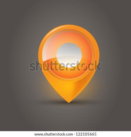 User interface map marker - stock vector