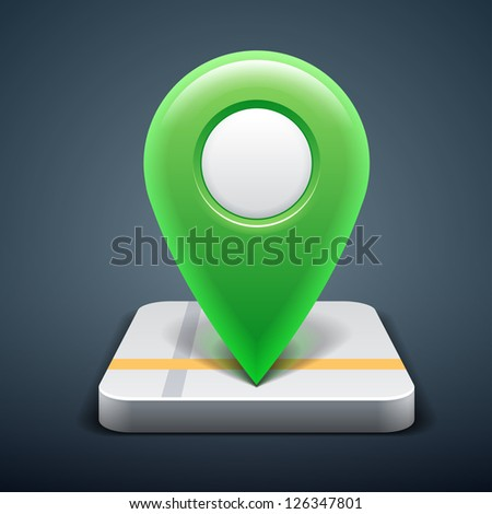 User interface map marker - stock vector