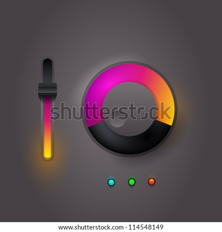 User interface scanning elements - stock vector