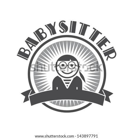 user picture babysitter - stock vector