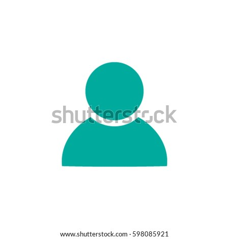 User Profile Group Outline Icon Symbol Stock Vector 598085921