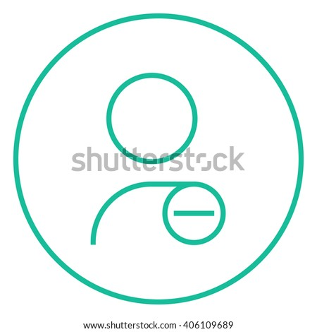 User profile with minus sign line icon. - stock vector