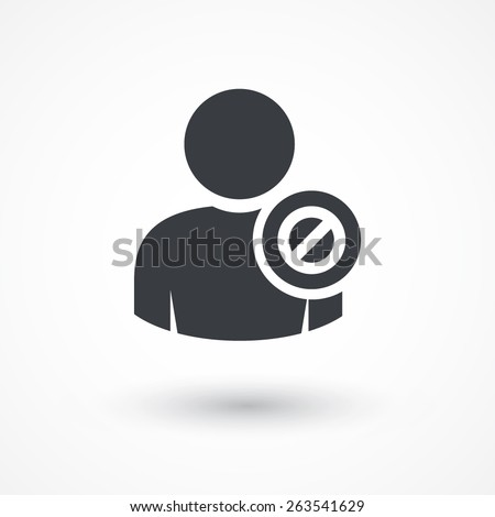 User stop icon. Denied. - stock vector
