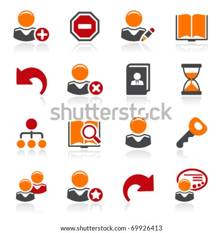 Users icons. Color series. - stock vector