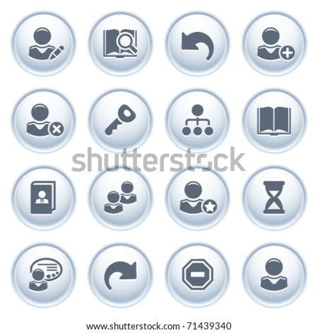 Users web icons on buttons. - stock vector