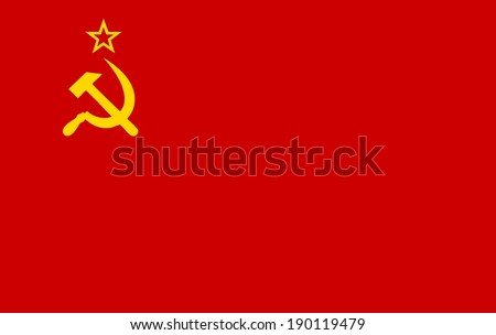 Ussr flag - stock vector