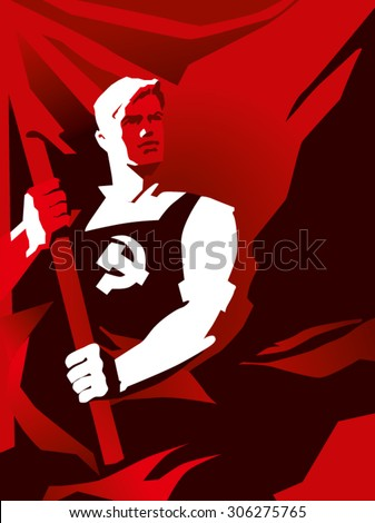 USSR flag - stock vector