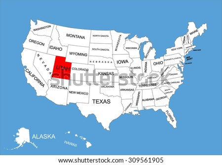 Wisconsin State Usa Vector Map Isolated Stock Vector - Utah map usa