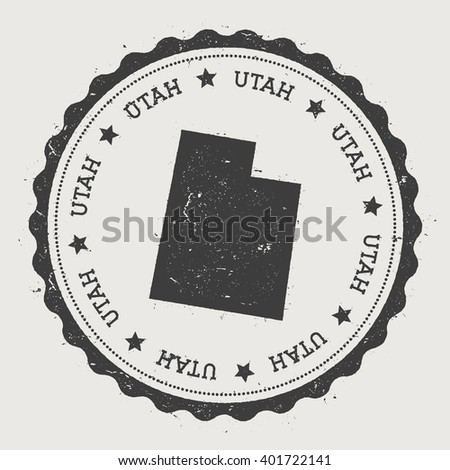 Vintage Utah Map Stock Images RoyaltyFree Images Vectors - Utah on us map
