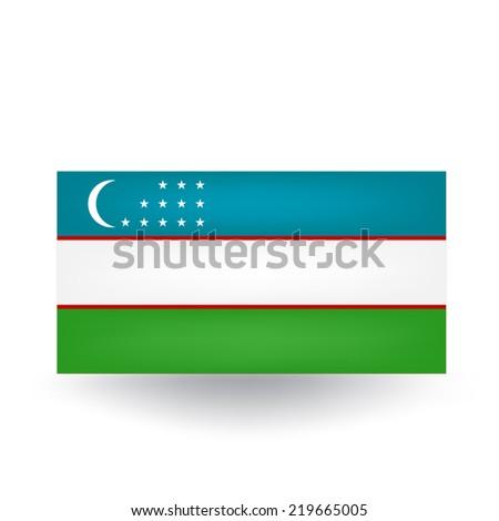 Uzbekistan Flag - stock vector