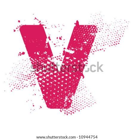 V_atomic_letter - stock vector