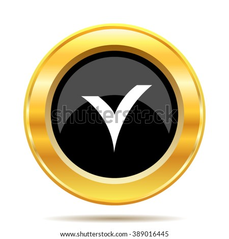 V checked icon. Internet button on white background. EPS10 vector.