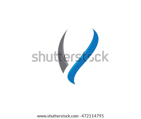 V Letter Logo Business professional logo template