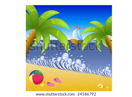 Vacation at the beach, background