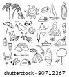 vacation on sea vector set - stock vector
