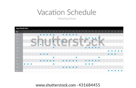 Vacation Schedule Template