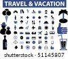 vacation & travel signs. vector - stock vector