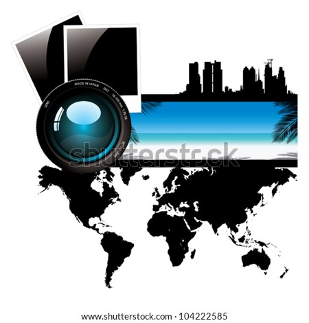 Vacations in the world. - stock vector