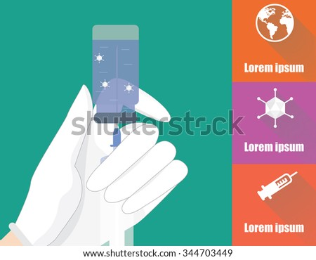 Vaccination vector illustration with icons. Global immunization infographic. - stock vector