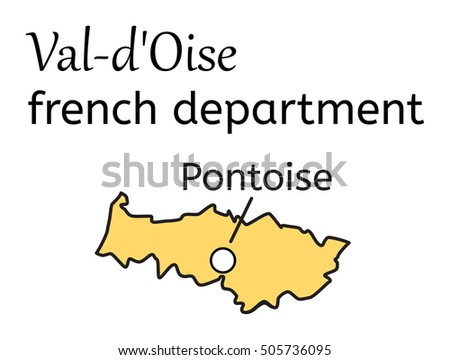 Val-dOise french department map on white