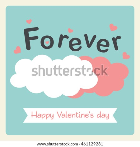 Valentin's day card in pastel style.