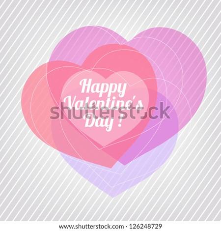 Valentine. - stock vector