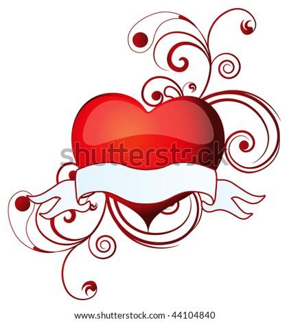 Valentine banner - stock vector