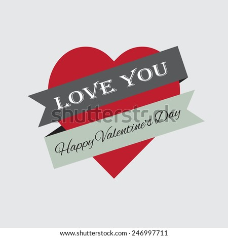Valentine Bedge - Love Youd, high quality vector graphic EPS10 - stock vector