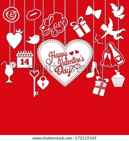 Valentine card. - stock vector
