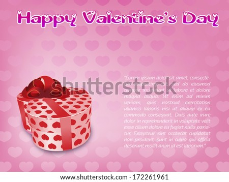 Valentine card vector - stock vector