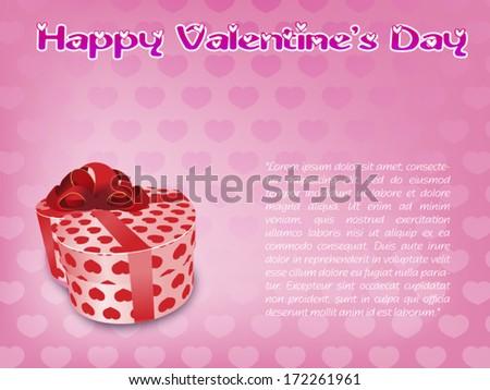 Valentine card vector - stock vector
