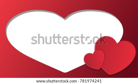 Valentine card vector. free space for text. Valentine sale tag. price tag vector.