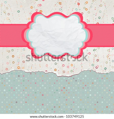 Valentine card with heart. And also includes EPS 8 vector - stock vector