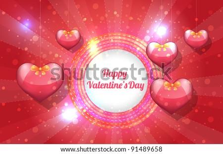 Valentine Day background vector - stock vector