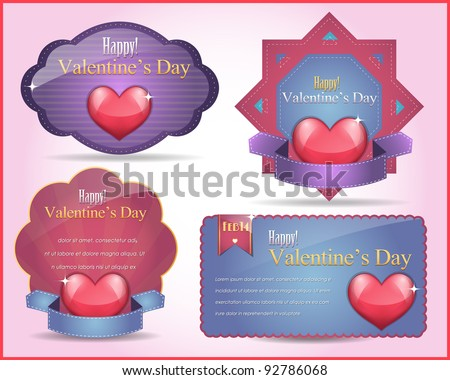 Valentine Day background vector - stock vector