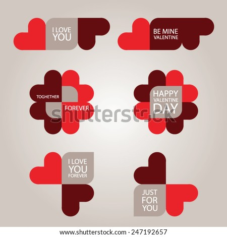 valentine day card with love messages vector illustration - Valentine Love Messages