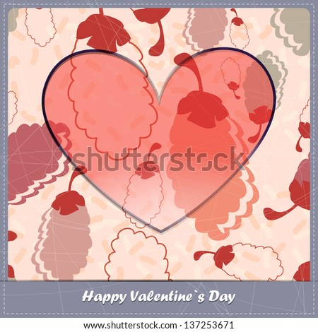 Valentine day card with Nuts